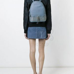 Replica Michael Kors Rhea Studded Backpack Pale Blue