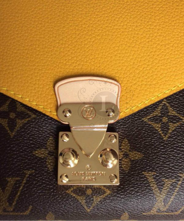 Replica Louis Vuitton Monogram Canvas Pallas Chain Yellow