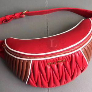 Replica  Miu Miu Rider Belt Bag Red
