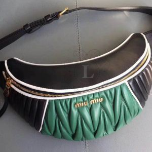 Replica  Miu Miu Rider Belt Bag Green