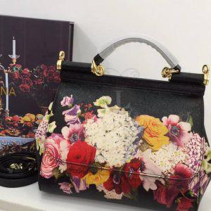 Replica Dolce & Gabbana Sicily Flowers Print Black