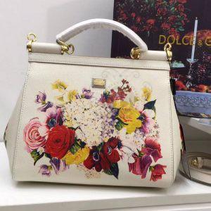 Replica Dolce & Gabbana Sicily Flowers Print White