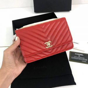 Replica Chanel Chevron Trendy CC WOC Red