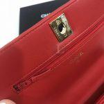 Replica Chanel Chevron Trendy CC WOC Red