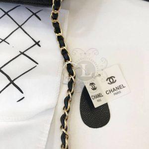 Replica Chanel aviar Mini Flap Black