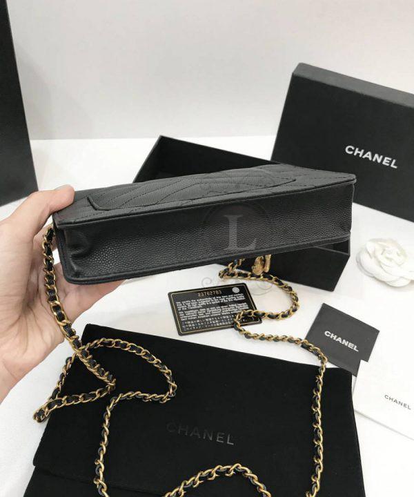 Replica Chanel WOC Chevron Caviar