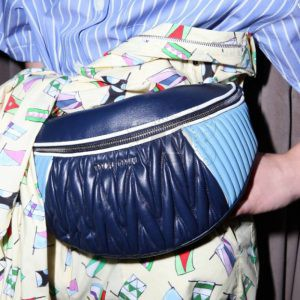 Replica Miu Miu Rider Belt Bag Blue