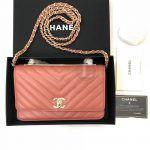 Replica Chanel Chevron Trendy CC WOC Coral