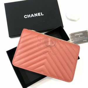 Replica Chanel Chevron Trendy CC WOC Coral