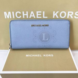 Replica Michael Kors Jet Set Travel Saffiano Continental Pale Blue
