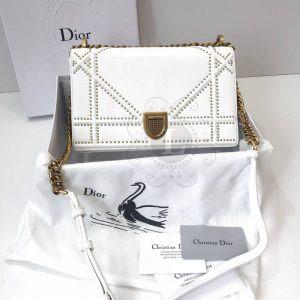 Replica Dior Diorama Studded Off White