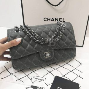 Replica Chanel Classic Flap Bag Grey