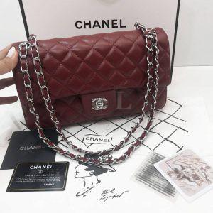 Replica Chanel Classic Flap Bag Marsala