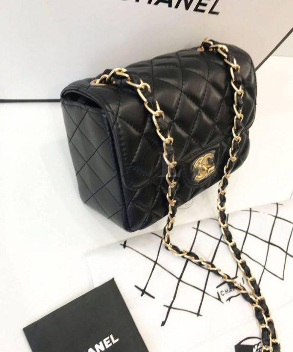 Replica Chanel Mini Flap Black