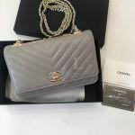 Replica Chanel Chevron Trendy CC WOC Grey