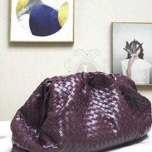Replica Bottega Veneta The Pouch Violet Woven Clutch