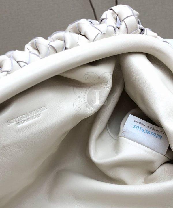 Replica Bottega Veneta The Pouch White Woven Clutch