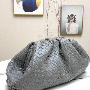 Replica Bottega Veneta The Pouch Grey Woven Clutch