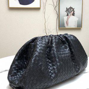 Replica Bottega Veneta The Pouch Black Woven Clutch