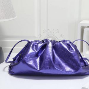 Replica Bottega Veneta The Pouch Violet Metallic Clutch