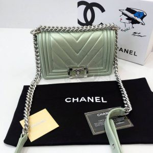 Replica Chanel Chevron Boy Mint Bag