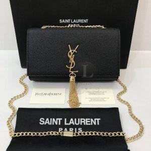 Replica Saint Laurent Kate Medium With Tassel In Caviar Leather