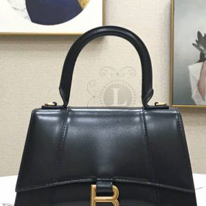 Replica Balenciaga Hourglass Small Top Chanele Bag Black