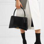 Replica Balenciaga Hourglass Small Top Chanele Bag Black