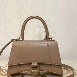 Replica Balenciaga Hourglass Small Top Chanele Bag Sand