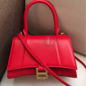 Replica Balenciaga Hourglass Small Top Chanele Bag Red