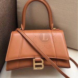 Replica Balenciaga Hourglass Small Top Chanele Bag Brown