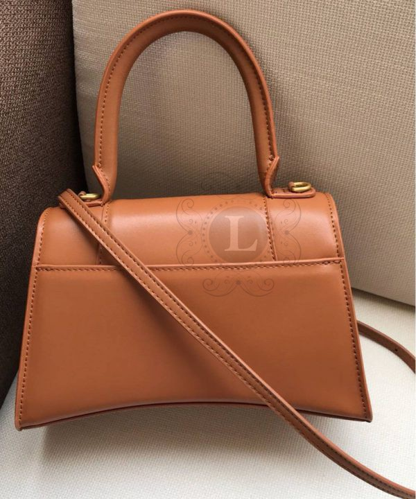 Replica Balenciaga Hourglass Small Top Chanele Bag Brown