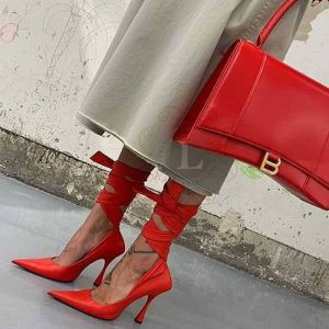 Replica Balenciaga Hourglass Top Chanele Bag Red