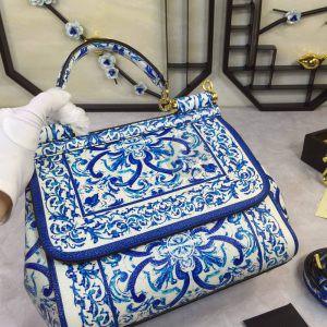 Replica Dolce & Gabbana Sicily Blue pattern Print