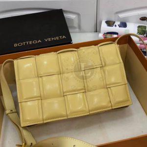 Replica Bottega Veneta Padded Cassette Bag Mustard