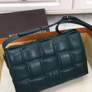 Replica Bottega Veneta Padded Cassette Bag Dark green
