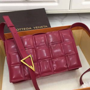Replica Bottega Veneta Padded Cassette Bag Cherry