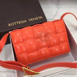 Replica Bottega Veneta Padded Cassette Bag Orange