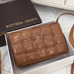Replica Bottega Veneta Padded Cassette Bag Brown