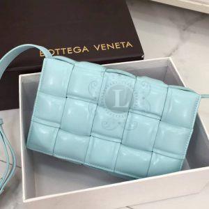 Replica Bottega Veneta Padded Cassette Bag Turquoise