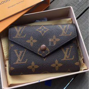 Replica Louis Vuitton Monogram Victorine Wallet Brown