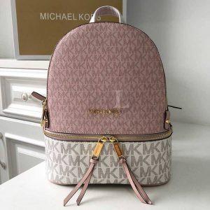 Replica Michael Kors Rhea Logo Backpack Vanilla Pink