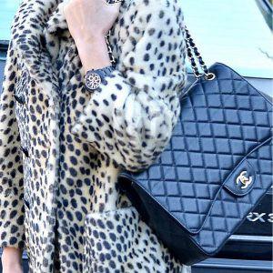 Replica Chanel 33 Maxi Flap Bag Blue