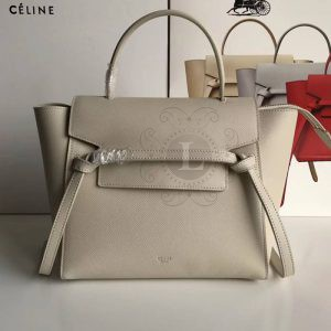 Replica Celine Belt Bag Dark White