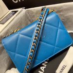 Replica Chanel 19 Wallet on Chain Bag Blue