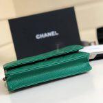Replica Chanel WOC Wallet On Chain Caviar Green