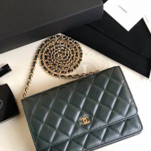 Replica Chanel WOC Wallet On Chain Green