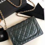 Replica Chanel WOC Wallet On Chain Green
