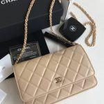 Replica Chanel WOC Wallet On Chain Biege
