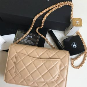Replica Chanel WOC Wallet On Chain Biege